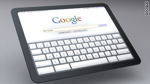 Google shows off its interest in tablet computing with its browser-based Chrome OS.