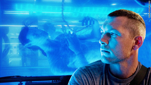 "Jake Sully (Sam Worthington) contemplates the avatar body he will inhabit via brain signals in the Oscar-nominated ""Avatar."""