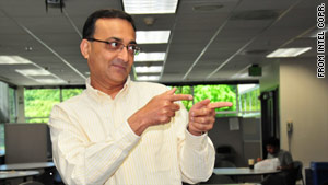 The real Ajay Bhatt, a co-inventor of USB technology, imitates his television persona.