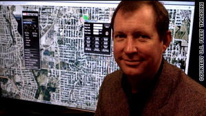 Jerry Hunter's US Fleet Tracking used a real-time GPS system to track vehicles for the Super Bowl.