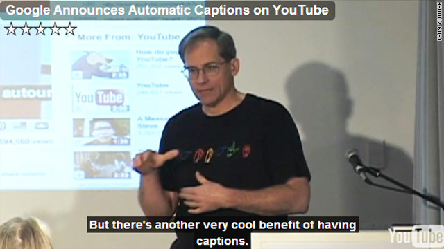 Ken Harrenstien is on a team at Google that's trying to automatically add closed captions to Internet videos.