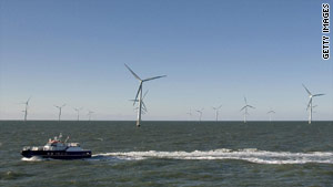 Horns Rev 2 -- the world's largest offshore wind farm.