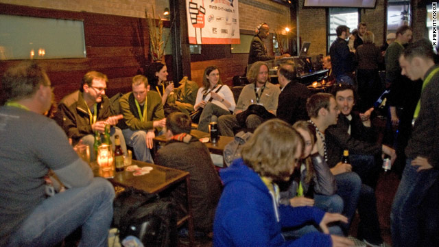 South by Southwest Interactive is as much about networking, like at this mixer last year, as panels and presentations.