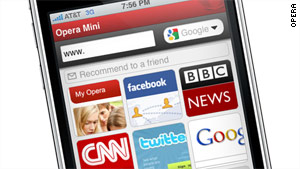 Opera submits browser for iPhone approval - CNN com