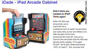 The Web site ThinkGeek created this fake 'iCade' add-on for the iPad. It got so much buzz online that it could become real.