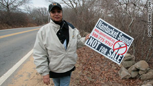 Cheryl Andrews-Malthais, the chairwoman of an American Indian tribe, objects to the wind farm.
