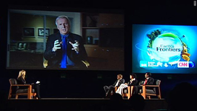 Earth's Frontiers Energy Debate in Seoul saw James Cameron appear in 3D.