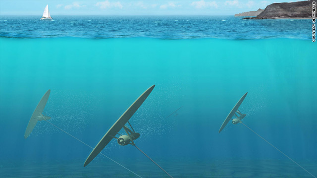 An artist's impression shows how the &quot;Deep Green&quot; device will function beneath the surface of the ocean.