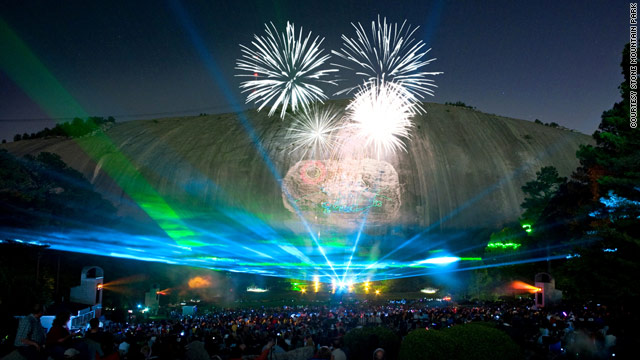 Stone Mountain Park near Atlanta, Georgia, has been running laser light shows for over 25 years.
