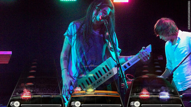 Rumors say the upcoming version of Rock Band will feature a keytar-like instrument.