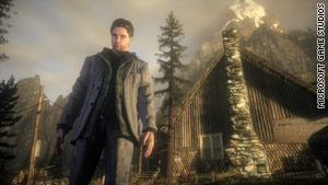 """Alan Wake"" is played from a third-person perspective."