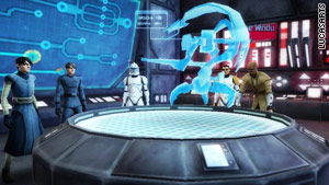Players will be able to interact with well-known Clone Wars characters like Mace Windu (right)