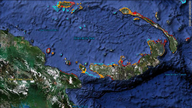 From the Coral Triangle to the Caribbean, Reefs at Risk Revisted will use color-coded maps to show threats to coral reefs.