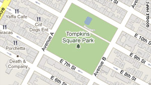 Crowley said he spent many days of unemployment in this park, near his apartment in New York.