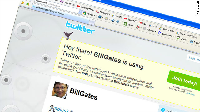 Bill Gates attracted thousands of followers within minutes of joining Twitter.