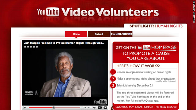 Video Volunteers sometimes uses celebrities, like actor Morgan Freeman, to bring attention to charities.