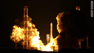 A Russian rocket launches an Intelsat satellite in February.