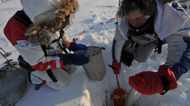 The team taking ice samples during the last Catlin Arctic Survey expedition in 2009.
