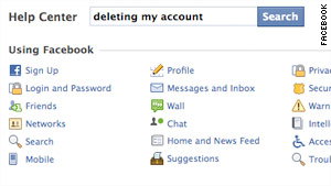Leaving Facebook can be almost as confusing as navigating the privacy backwaters on the site.