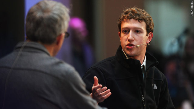Facebook CEO Mark Zuckerberg announced the site's simplified privacy settings Wednesday.