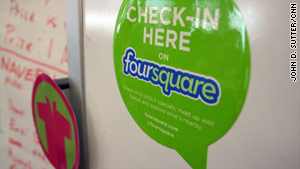 A new app helps Foursquare users figure out what it takes to be the mayor of their favorite locations.