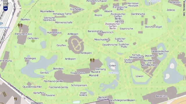OpenStreetMap's version  of the Zoologischer Garten Berlin shows far more detail than Google Maps' version.