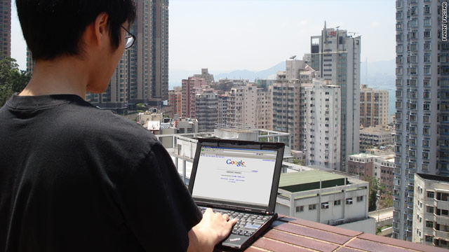 """Li Cheng"" is one of many Chinese students who are flocking to Hong Kong to get around Beijing's internet censorship."