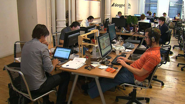Dogpatch Labs' New York office houses about 35 people from 15 companies in a 3,000-foot loft space.