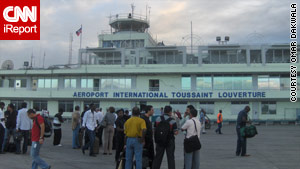 iReporter Omar Dakwala took this photo of the airport in Port-au-Prince following the earthquake.