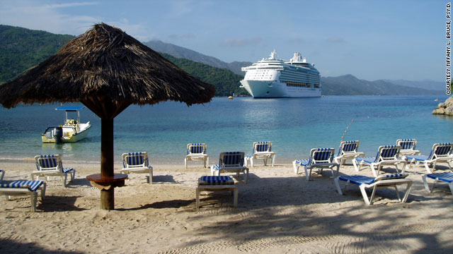 A Royal Caribbean passenger took this photo of the cruise line's facilities in Labadee, Haiti, during a stop in 2006.