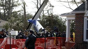 Continental Connection Flight 3407 crashed February 12, 2009, in Clarence Center, New York, killing 50 people.
