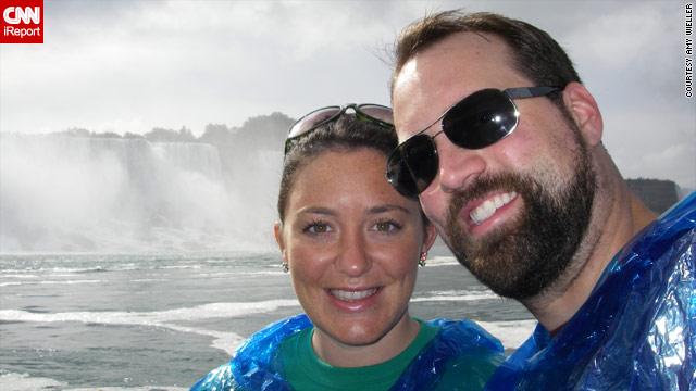 Amy and David Wieller spent their honeymoon in Niagara Falls last fall.