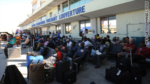 Some buildings at Toussaint Louverture International Airport in Port-au-Prince were damaged in last month's earthquake.