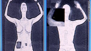 """Backscatter"" scanners see through clothes, producing an image of a traveler's body."