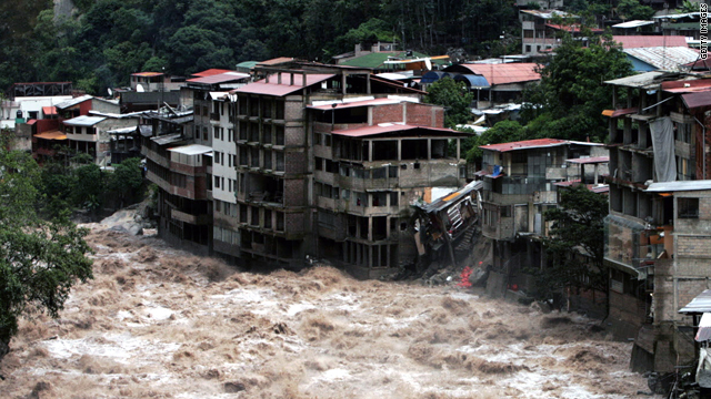 Hundreds of tourists were stranded for several days in January by flooding and mudslides near Machu Picchu in Peru.
