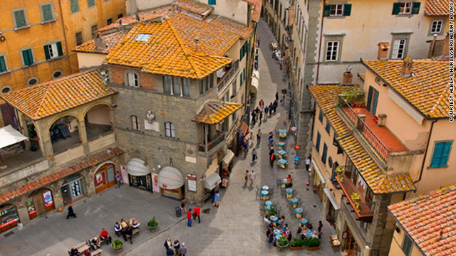 Author Frances Mayes people across Italy flock to piazzas to shop, socialize and watch the rhythms of life.