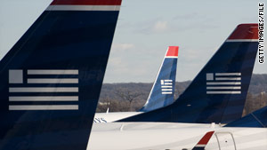 """US Airways said """"two pilots, five flight attendants and two passengers are seeking medical attention as a precaution."""""""