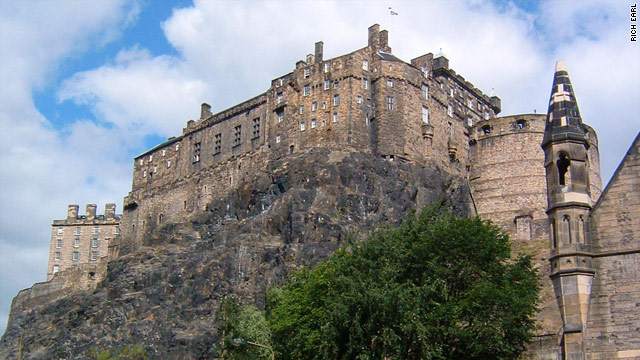 Edinburgh Castle is built atop a massive rock in the heart of the Scottish capital.