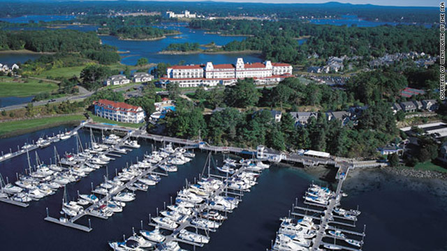 Wentworth by the Sea is a sprawling resort with 360-degree views that take in Portsmouth, New Hampshire.