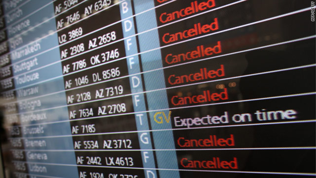 Flight cancellations are likely to continue as long as there is ash