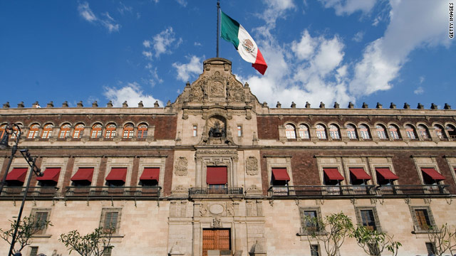 The National Palace, or Palacio Nacional, in Mexico City is on the Plaza de la Constitucion.