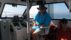 Boat captain Douglas Hammock, a lifelong Pensacola resident, fears the oil slick could impact the economy.