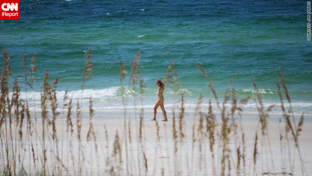 Panama City Beach, above, and most other beaches in Florida are oil-free, but tourists are reticent about renting beach houses.