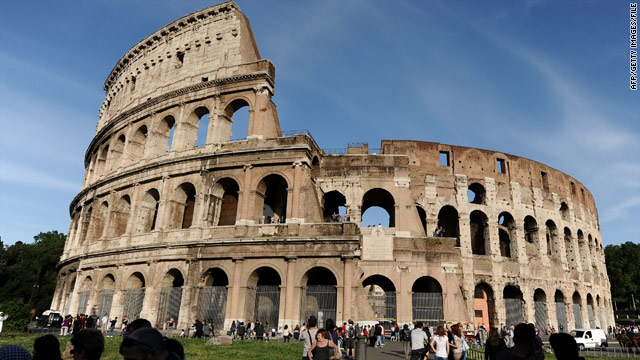 Completed in 80 A.D., the Colosseum once held 50,000 to 60,000 people and reached an impressive 130 feet in height.