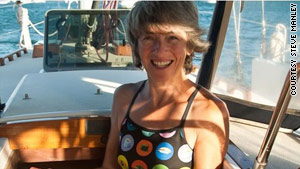 Ann Vanderhoof on board her sailboat Receta in the Caribbean.