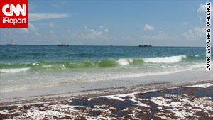 Oil washed ashore last week on Pensacola Beach, Florida.