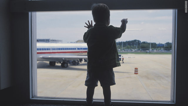 People tend to get anxious when they see families with children boarding a plane, so preparation is key, author says.