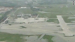 Flooding forced the Milwaukee airport to close Friday.
