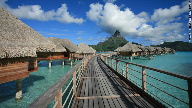 Seawater from the depths of the ocean is used in cooling systems at Bora Bora's InterContinental Resort.