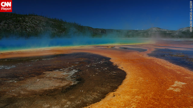 In July, Yellowstone National Park reached an all-time visitor high, with 975,000 people touring the park.